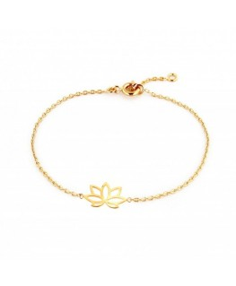 Bracelet Plaqué Or Fleur De Lotus