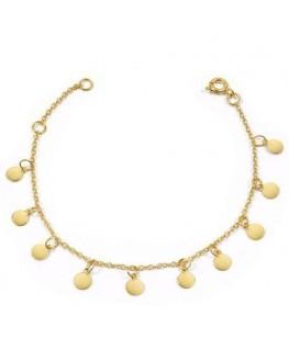 Bracelet Plaqué Or Médaille Fantaisie