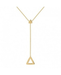 Collier Plaqué Or Triangle Pendant