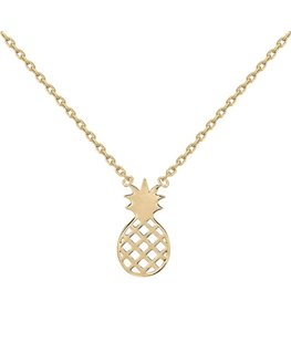 COLLIER PLAQUE OR ANANAS