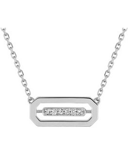COLLIER OR GRIS DIAMANTS 0-03CT 750-000