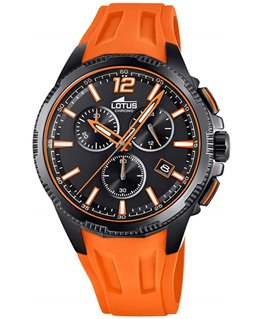 Montre Lotus homme chronomètre bracelet orange