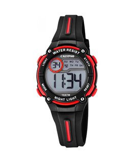 Montre CALYPSO Ado Digital Noir Rouge