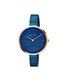 Montre ELIXA BEAUTY Dame Acier Bleu