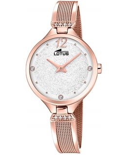 Montre LOTUS Dame Rose Fond Blanc