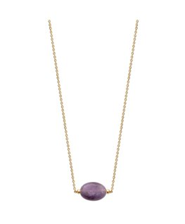 COLLIER PLAQUE OR AMETHYSTE