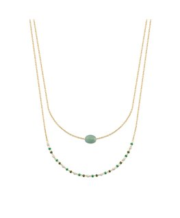 COLLIER PL-OR AVENTURINE