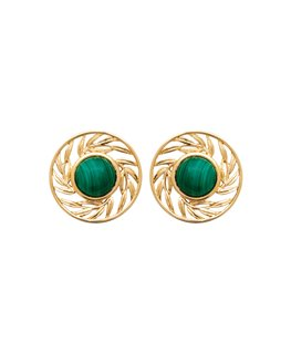 BOUCLES PLAQUE OR OZ PIERRE SYNT-VERTE
