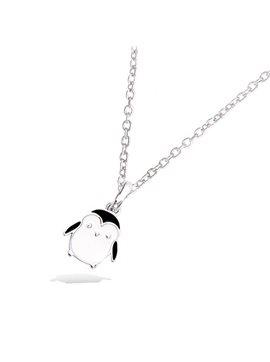 Pendentif argent rhodié enfant pingouin émail
