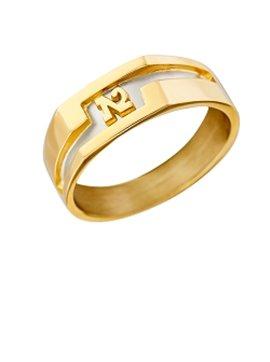 Chevalière or jaune 750/000 forme anneau