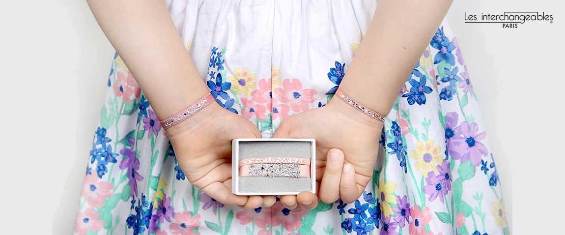 Bracelets tissus les interchangeable